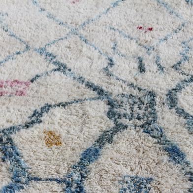 apis berbère, Tapis Berbère teinture végétale, tapis bio, tapis bleu
