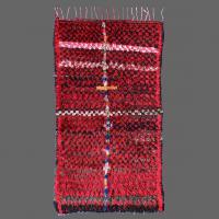 Boucherouite antique carpet, berber carpet