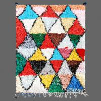Like a mixture of Miro and Piccasso this Boucherouite rug is loaded with artistic flavour.