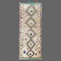Azilal rug, berber rug, runner rug