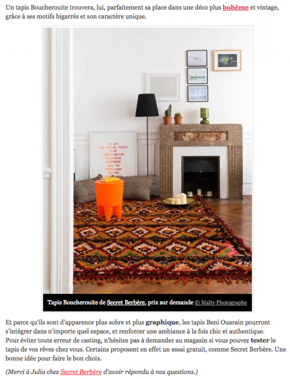 Supérieur Le Journal Des Femmes Deco #12: Berber Rugs And Kilims : How To Integrate Ethnic Rugs In Interior ? Http:// Deco.journaldesfemmes.com/mur-sol/1558569-tapis-ethnique/#
