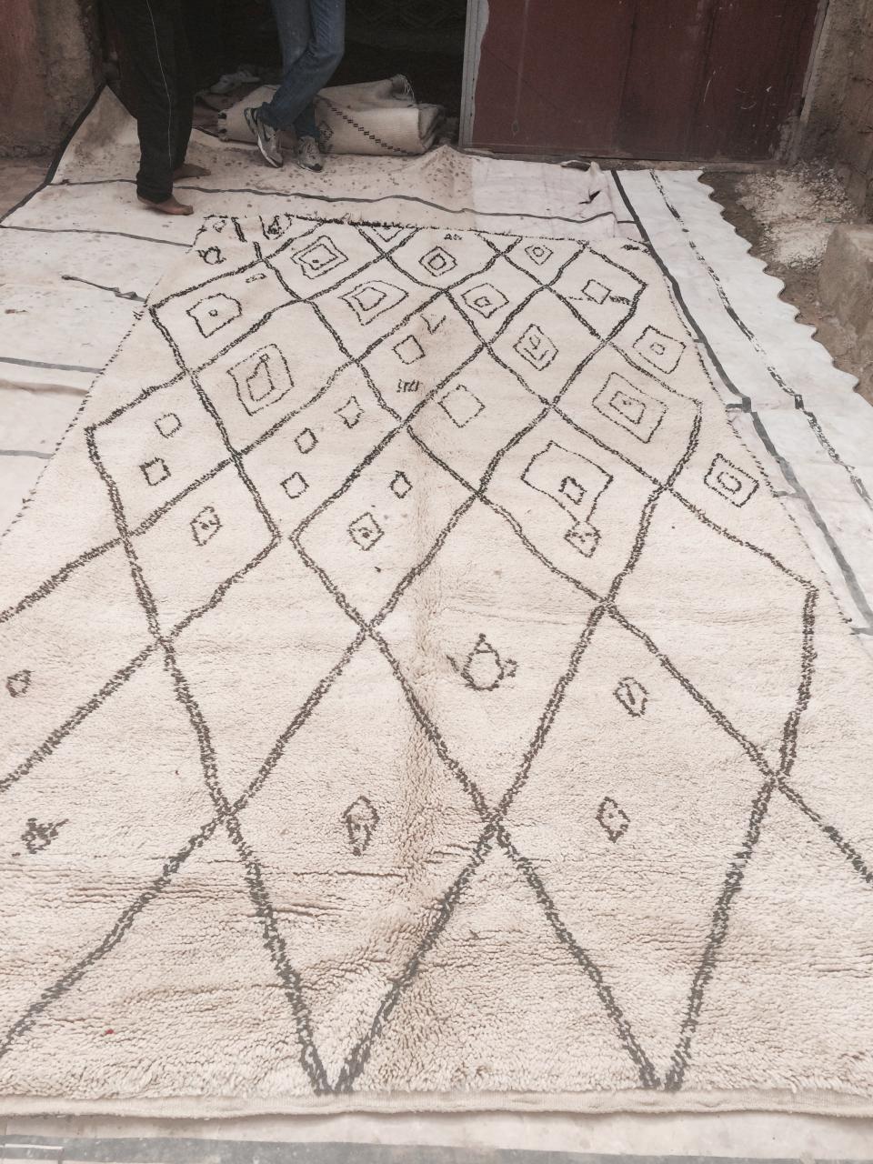 fantastique tapis vintage de Bén Ouarain