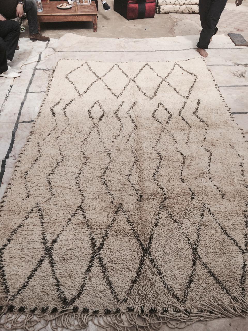 Fantastique tapis de Béni Ouarain vintage