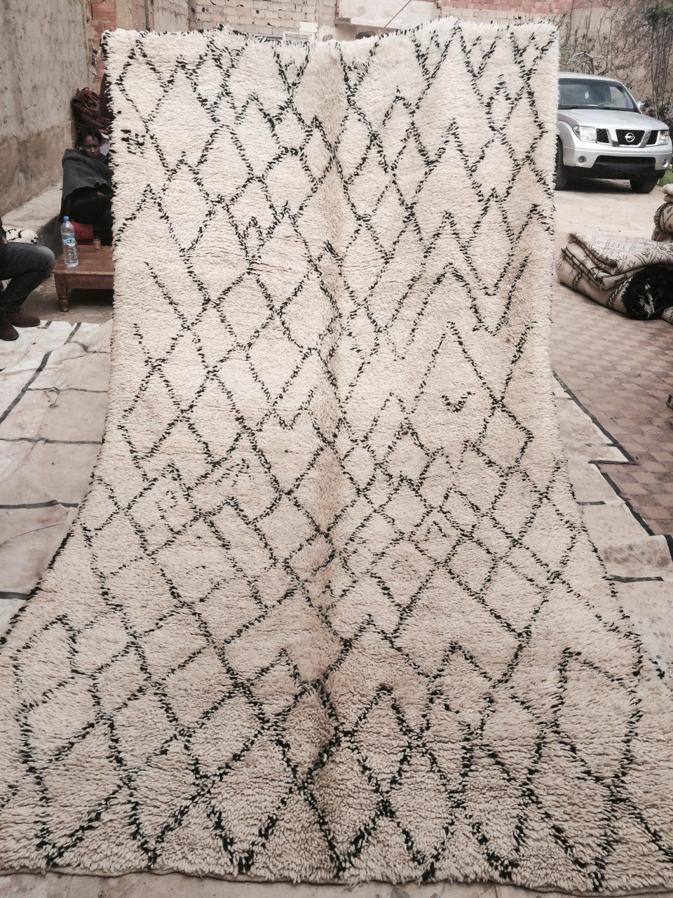 tapis de Béni Ouarain vintage